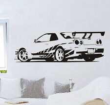 GTR Skyline Sports Car R34 Bedroom Wall Stickers Vinyl Decals Home Decor