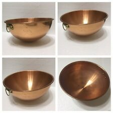 Solid Copper Nesting Mixing Bowl Made In Korea (D-Bx)