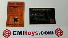 X-men Movie  prop JEAN GREY PHOENIX Costume Swatch Famke Janssen with COA