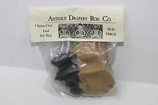 """Antique Drapery Rod Co. 1"""" Bauhaus Chess Finial Soft Black Pack Of 2 Made In USA"""
