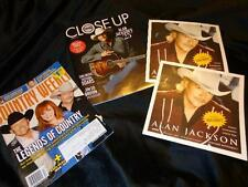 Alan Jackson *CMA Close Up & Country Weekly Mag Covers+2 Promo Window Clings!