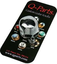 Q-Parts SKULL Custom Guitar Knob CHROME KCSI0401