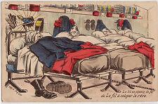 CPA - Illustrateur - Humour - Militaire - Le lit en chemin de fer