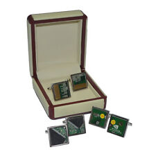 CUFFLINKS REAL Computer Printed Circuit Board IT Technician Present GIFT Box