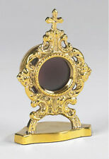 "Oval Personal Reliquary Made of Brass - 2"" W x 3-1/2""H"