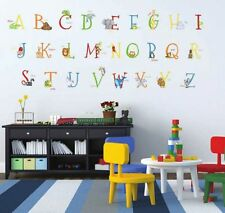 129 ANIMAL ALPHABET GIANT WALL DECALS Removable and Reusable Stickers ABC Decor