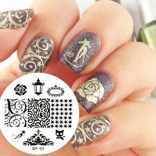BORN PRETTY Nail Art Stamping Plate Black Cat Rose Image Template Nail Tool #03