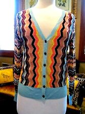 MISSONI FOR TARGET MULTICOLOR CHEVRON  KNIT CARDIGAN SWEATER Sz: M