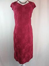 Stunning Jacques Vert red lacy evening dress, size 18
