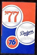 1977 LOS ANGELES DODGERS BASEBALL POCKET SCHEDULE - UNION 76