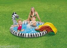 Clearwater Play Center Ring Spray Inflatable Pool - Zebra