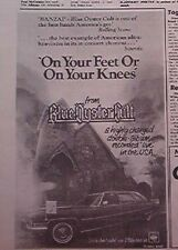 BLUE OYSTER CULT On Your Feet / On Your Knees 1975 small Press ADVERT 8x6 inches