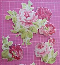 Cath Kidston Antique Rose Wallpaper 12 DECOUPAGE PIECES  Roses furniture craft