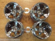 NEW! TAMIYA VAJRA 4 Rim Chrome Plastic Wheel Set from Kit 58497 Part # 19335619