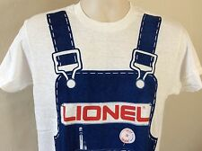 Vtg 1975 Lionel Model Trains Overalls T-Shirt White M 70s Toys Collectibles
