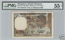 MADAGASCAR 100 FRANCS / 20 ARIARY ND (1961) PICK 52 ALPHABET T.2618 N° 873