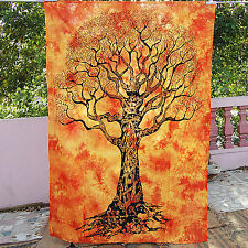 Tree Of Life Celtic Wall Tapestry Orange Twin Indian Bedspreads Hippie Throws