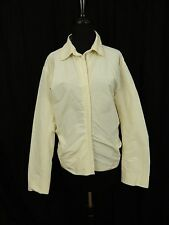 Jil Sander Ivory Cream Off White Zipper Windbreaker Jacket Coat Women's 40