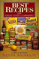 Best Recipes of the Great Food Companies by Judith Anderson Cookbook Hardcover