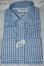 """THOMAS PINK """"LEAR CHECK"""" CLASSIC FIT FRENCH CUFF SHIRT 16.5/35 NWT"""