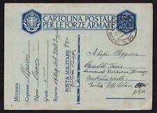 POSTA MILITARE 1941 Franchigia da PM 99 a PM 68A (M5)