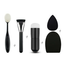 5pcs Pro Makeup Face Powder Sponge Brush Cleaner Contour Foundation Brush