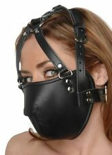 Strict Leather FACE MASK Harness locking half head nose muzzle adult mouth cover