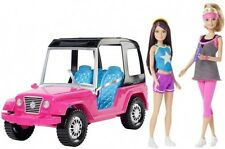 Barbie and Skipper Dolls with Jeep New