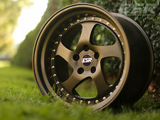 "18"" ESR SR02 Wheels 18x9.5 +22 5x114.3 Matte Bronze Rims Set"