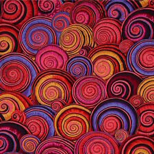 SPIRAL SHELLS RED by Kaffe Fassett Sold in 1/2 yd increments