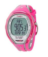 NEW TIMEX IRONMAN PINK 250-LAP SLEEK TAP SCREEN DIGITAL INDIGLO WATCH T5K591