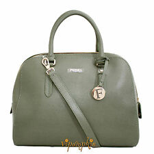 FURLA ELENA LARGE BAG SALVIA SAGE SAFFIANO LEATHER SATCHEL NEW $448