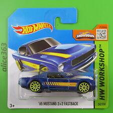 HOT WHEELS 2015 - ´65 Mustang 2+2 Fastback - HW Workshop - 242 - neu in OVP