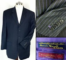 Ermenegildo Zegna Dormeuil BLACK W PURPLE PINSTRIPE Sports Coat Recent Mens 38