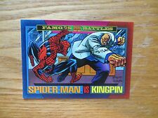 1993 SKYBOX MARVEL UNIVERSE 4 SPIDER-MAN VS KINGPIN CARD SIGNED ALEX SAVIUK, POA