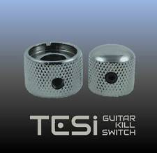 Tesi Premium Dual Concentric Guitar Knob Set - Volume, Tone - Chrome