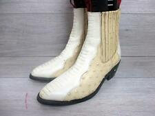 DENVER MENS WESTERN/COWBOY BOOTS SIZE UK 9 BEIGE VERY GOOD CONDITION CODE-EA6314