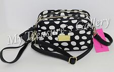 NWT Betsey Johnson Double Zip Camera Purse Crossbody Shoulder Bag Spot