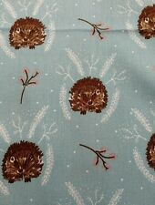 Hedgehog nature trails childrens craft cotton poplin fabric  sold by the metre