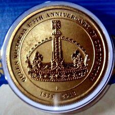 AUSTRALIA: 2013  $1 Uncirculated Coronation Crown  Al Br Coin Proof Like Coin