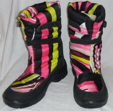 Multi-colored Emilio Pucci Snow cold weather boots size 39 8.5 Black Pink Green