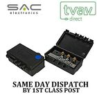 SAC 2 Way Outdoor TV Aerial Splitter Freeview UHF DAB FM Blue Dot A1006