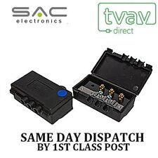 SAC 2 VIE TV OUTDOOR ANTENNA SPLITTER Freeview UHF DAB FM Blue Dot A1006