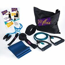 Fitness Exercise Bands Resistance Set with Shoulder Pulley - 8 piece set.