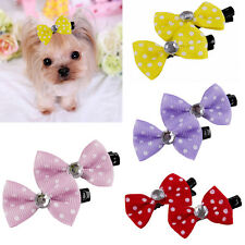 10PCS Colorful Cute Beauty Pet Cat Dog Grooming Hair Bows Hair Clips Accessories