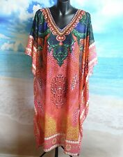 Kaftan Dress One Size New Beach And Summer Wear Art Silk Plus Swarovski Crystals