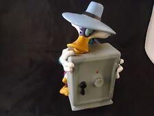 Disney's Darkwing Duck Holding Safe Kid's Piggy Bank w/ Stopper Plug