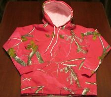 Girls Youth L ~ Large Pink Camo Hoodie