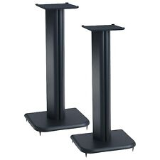 Wood 16 Inch Floor Speaker Stands Solid Stand Pair Spike Spikes Hidden Audio New