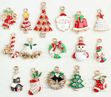20X Christmas Santa Claus Mix Metal Charms pendants DIY Jewellery Making crafts